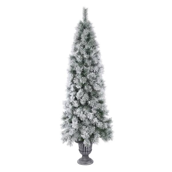 Frosted Slim Christmas Tree: Frosted Christmas Tree