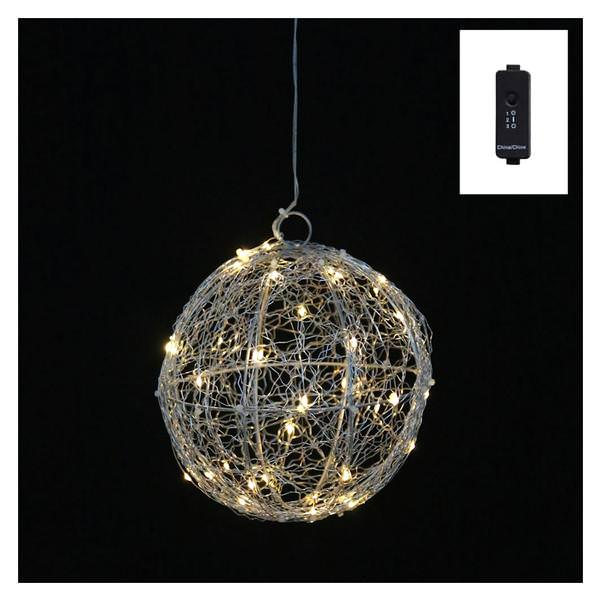 8 silver wire ball 40 warm white angel tear lights hanging christmas light