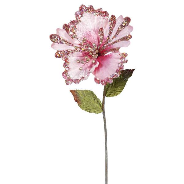 Vickerman 403488 - 23 Pink Hibiscus Flower (3 pack) (OF160309)