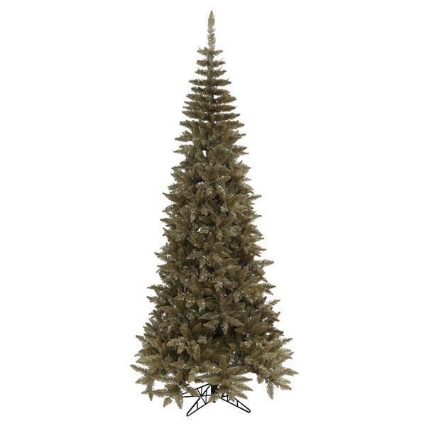Vickerman Christmas Trees.Vickerman 429907 6 5 X 34 Tinsel Antique Champagne Fir Tree Christmas Tree K156265