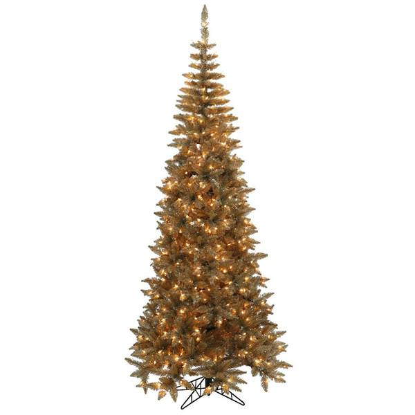 Champagne Colored Artificial Christmas Tree