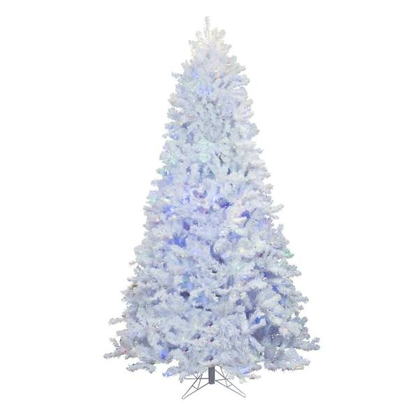 Vickerman 451830 7 5 X 55 Crystal White Spruce 800 Dura Lit Color Changing Led Lights Christmas Tree A165877led