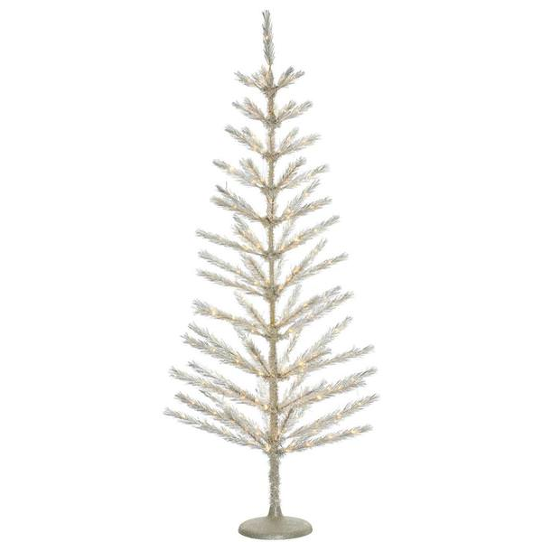6 x 28 champagne feather tree 234 warm white led lights