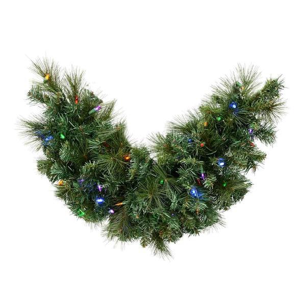 Vickerman 516447 36 X 16 Mixed Brussels Mailbox Pine Swag 50 Multi Color Led Lights Christmas Garland D172762ledbo