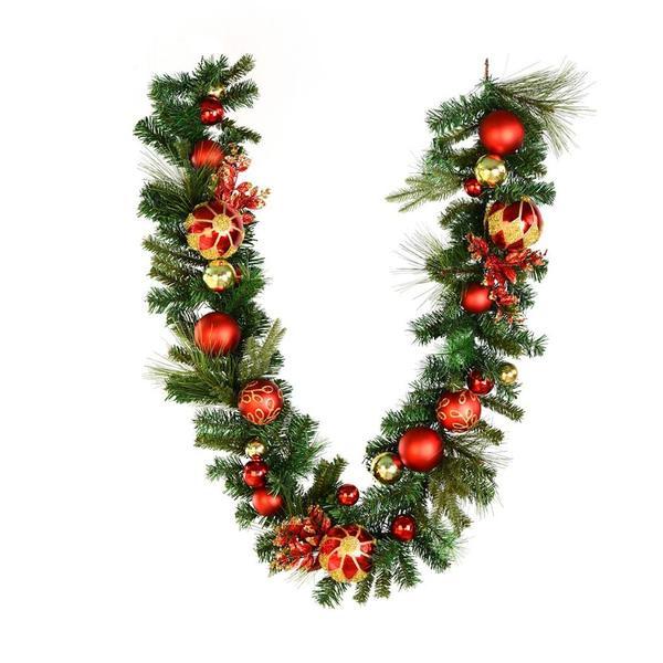 Vickerman 519943 6 X 12 Mixed Green Christmas Garland Jr173212