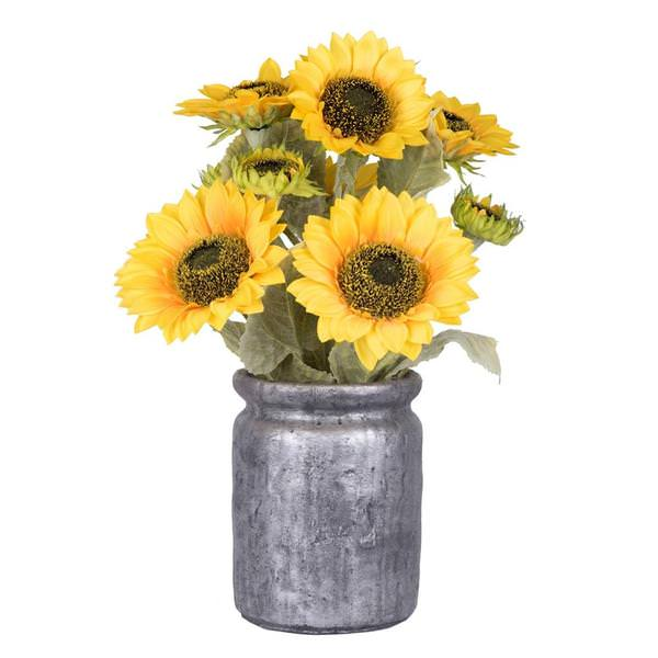 Vickerman 523278 Home Office Flower In A Pot Vase Bowl