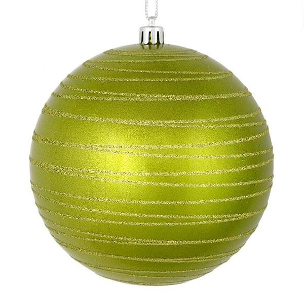 Vickerman 527573 Light Green Colored Christmas Tree Ball Ornament
