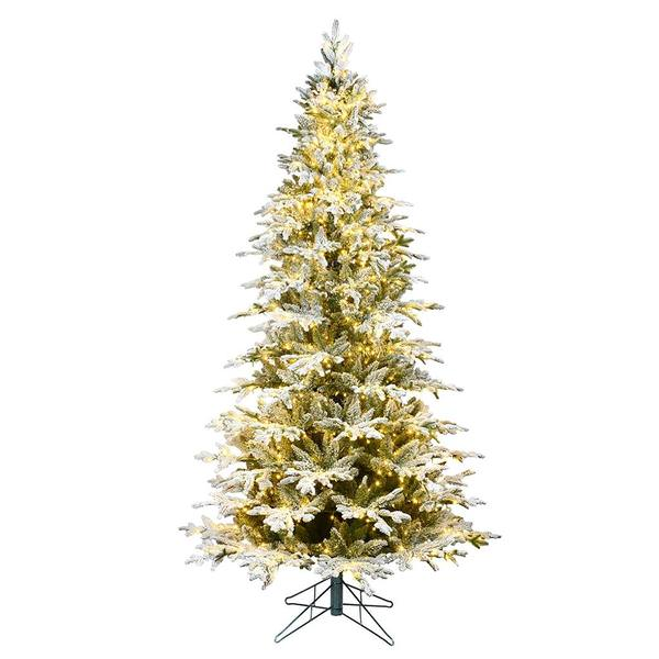 Vickerman 563694 7 5 X 48 Flocked Kamas Fraiser Fir 1200 Warm White Low Voltage Led Lights Christmas Tree K185176led