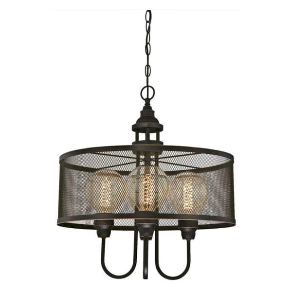 buy popular 09e49 08035 Westinghouse 63329 - 4 Light Oil Rubbed Bronze with Highlights Mesh Shade  Chandelier Light Fixture (4 Light Walter Chandelier, Oil Rubbed Bronze ...