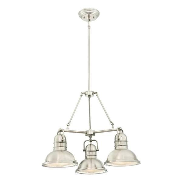online retailer 97a6f d7012 Westinghouse 63339 - 3 Light Brushed Nickel Prismatic Lenses Chandelier  Light Fixture (3 Light Boswell Chandelier, Brushed Nickel Finish)