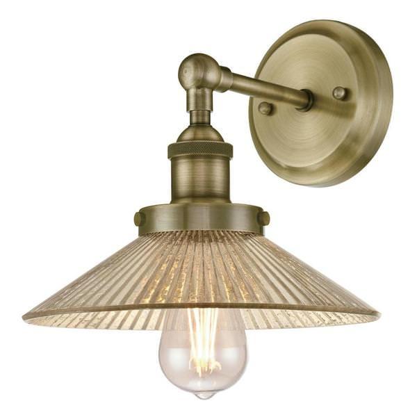 Vintage Round Fluorescent Light Fixture: Antique / Reproduction Light Bulb