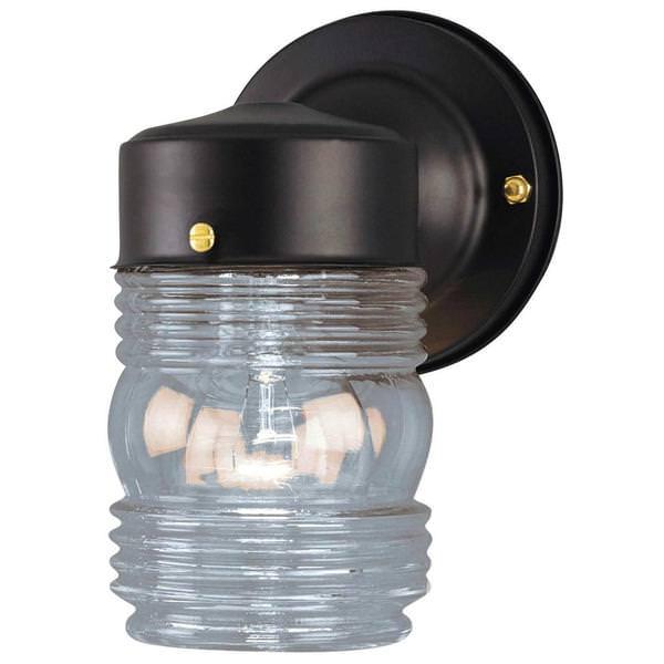 westinghouse 66885 outdoor jelly jar light fixture. Black Bedroom Furniture Sets. Home Design Ideas