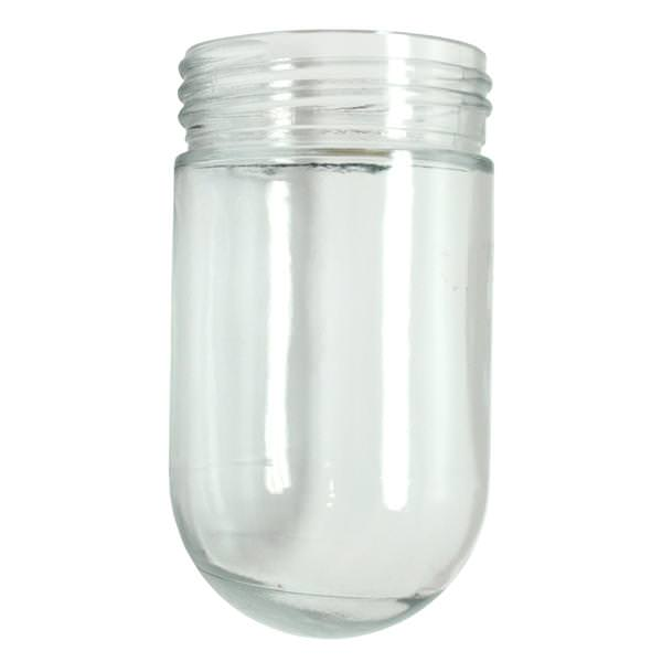 3 25 X 6 Threaded Clear Glass Jelly Jar For Outdoor Light Fixture